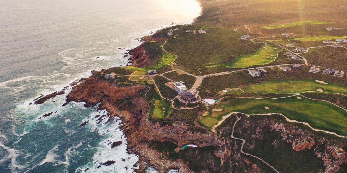 Pinnacle Point Golf Course Aerial View Greens Ocean
