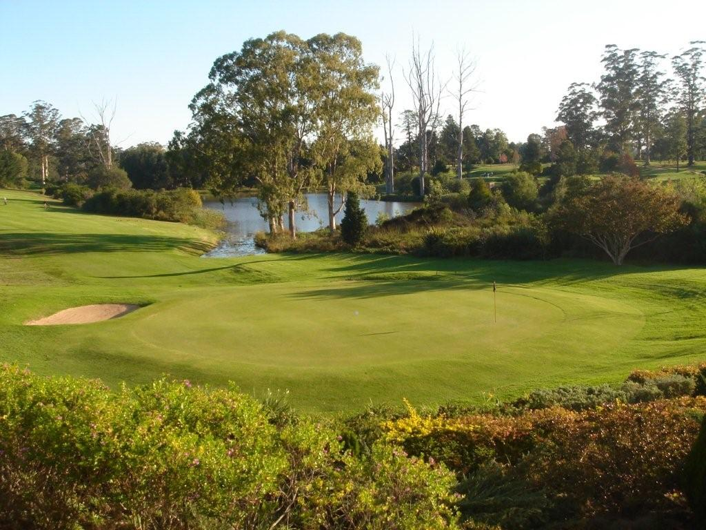 George Golf Course Greens Fairways Water Lake