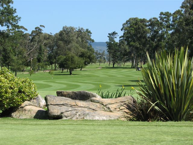 Knsyna Golf Course Fairways Trees Rock