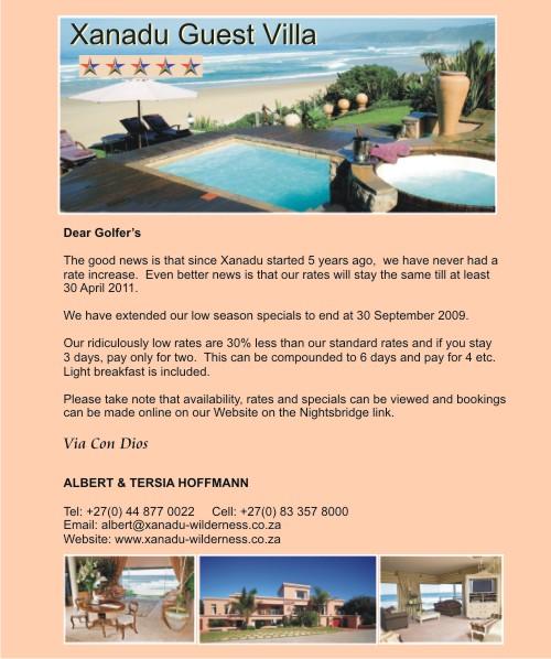 Xanadu Guest Villa - golfinthegardenroute.com