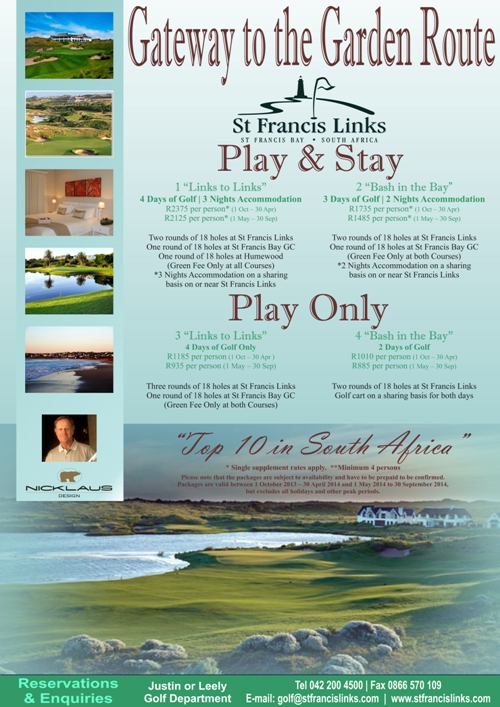 Visitor Rates Specials Golf In The Garden Route South Africa
