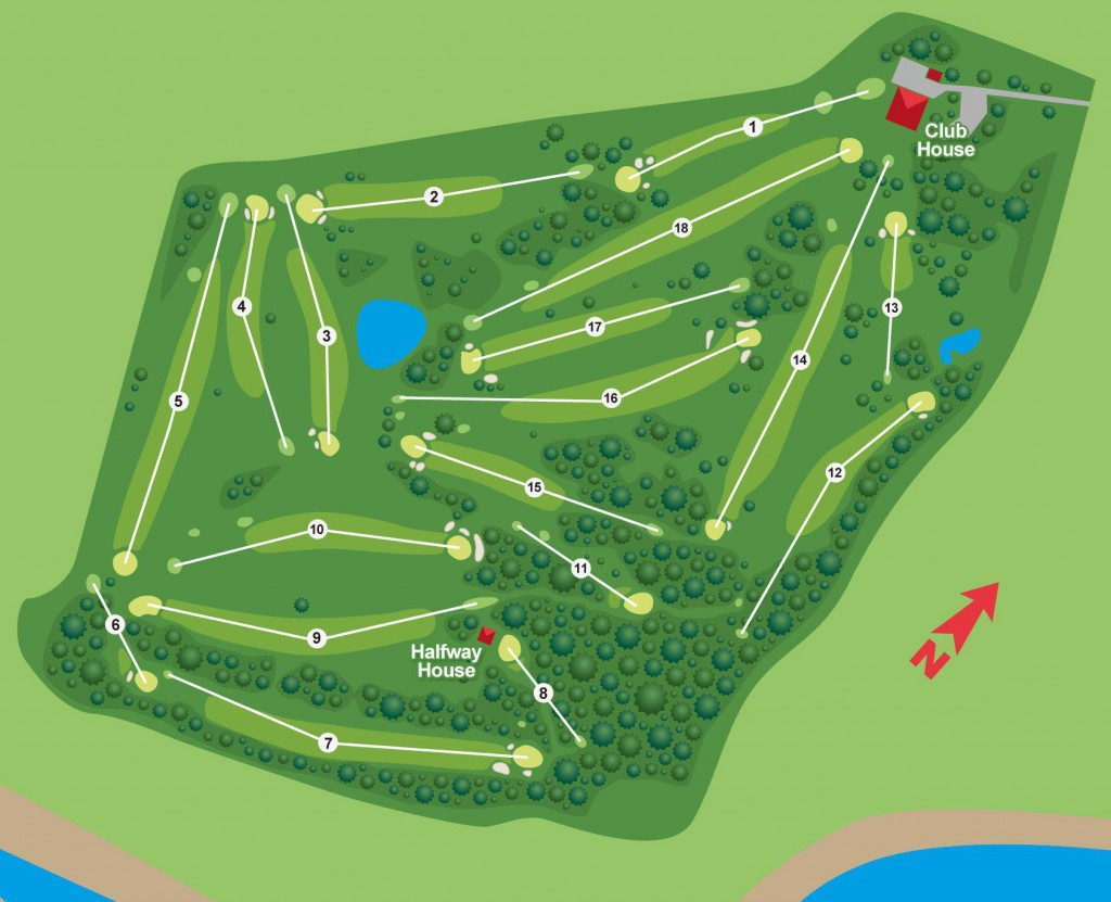 Royal Port Alfred Golf Club Course Layout - golfinthegardenroute.com