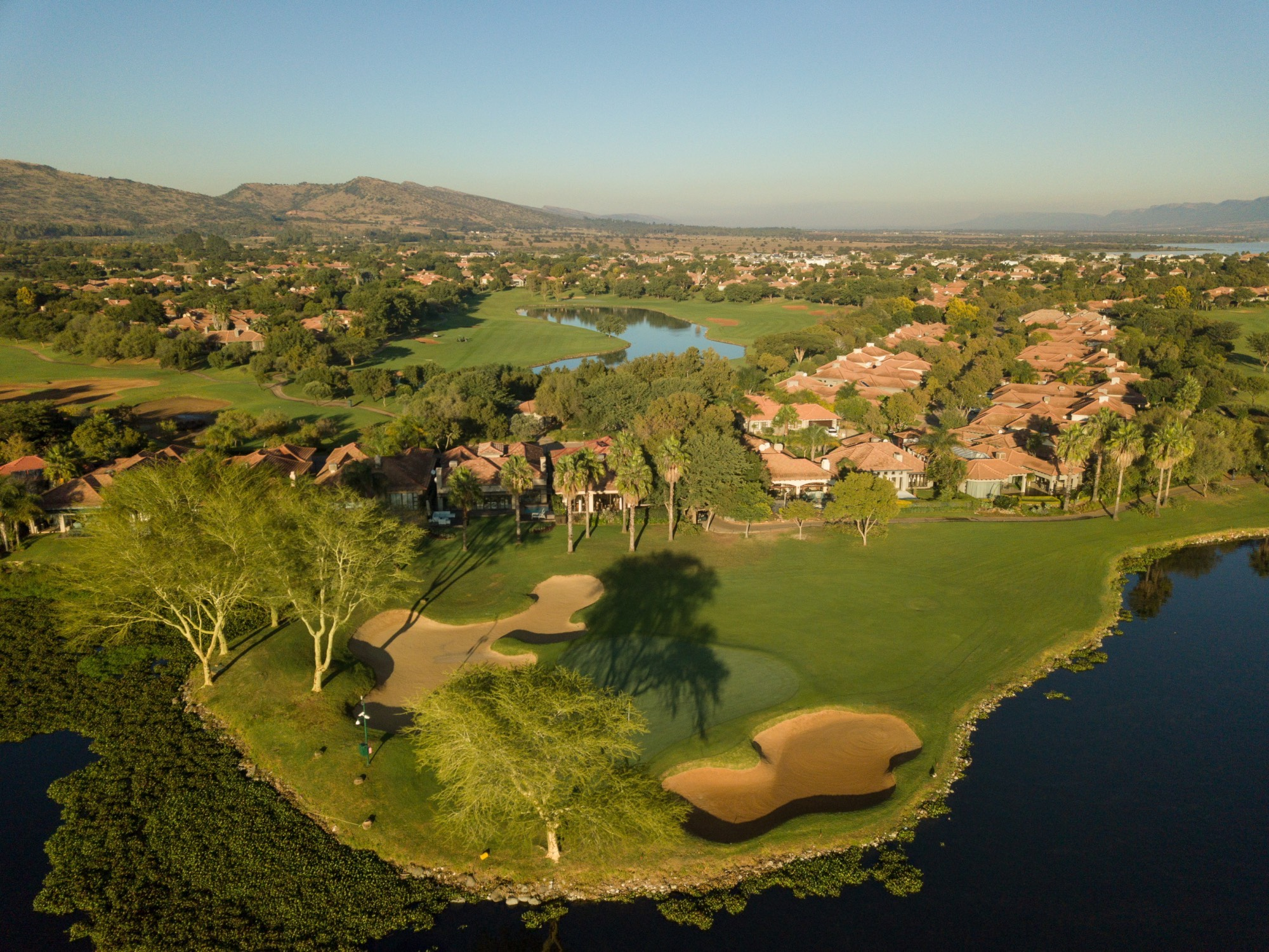 Pecanwood golf course and waterways and estate