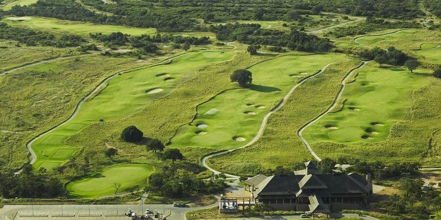 Euphoria Golf Course Aerial View of greens