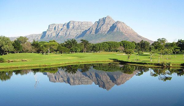 Mowbray Golf Course Water Feature Mountain Backdrop